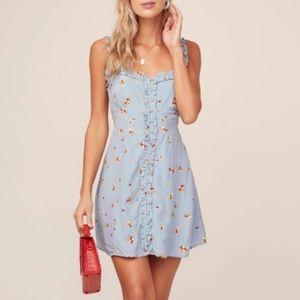 NEW ASTR Blue Celia Floral Mini Dress